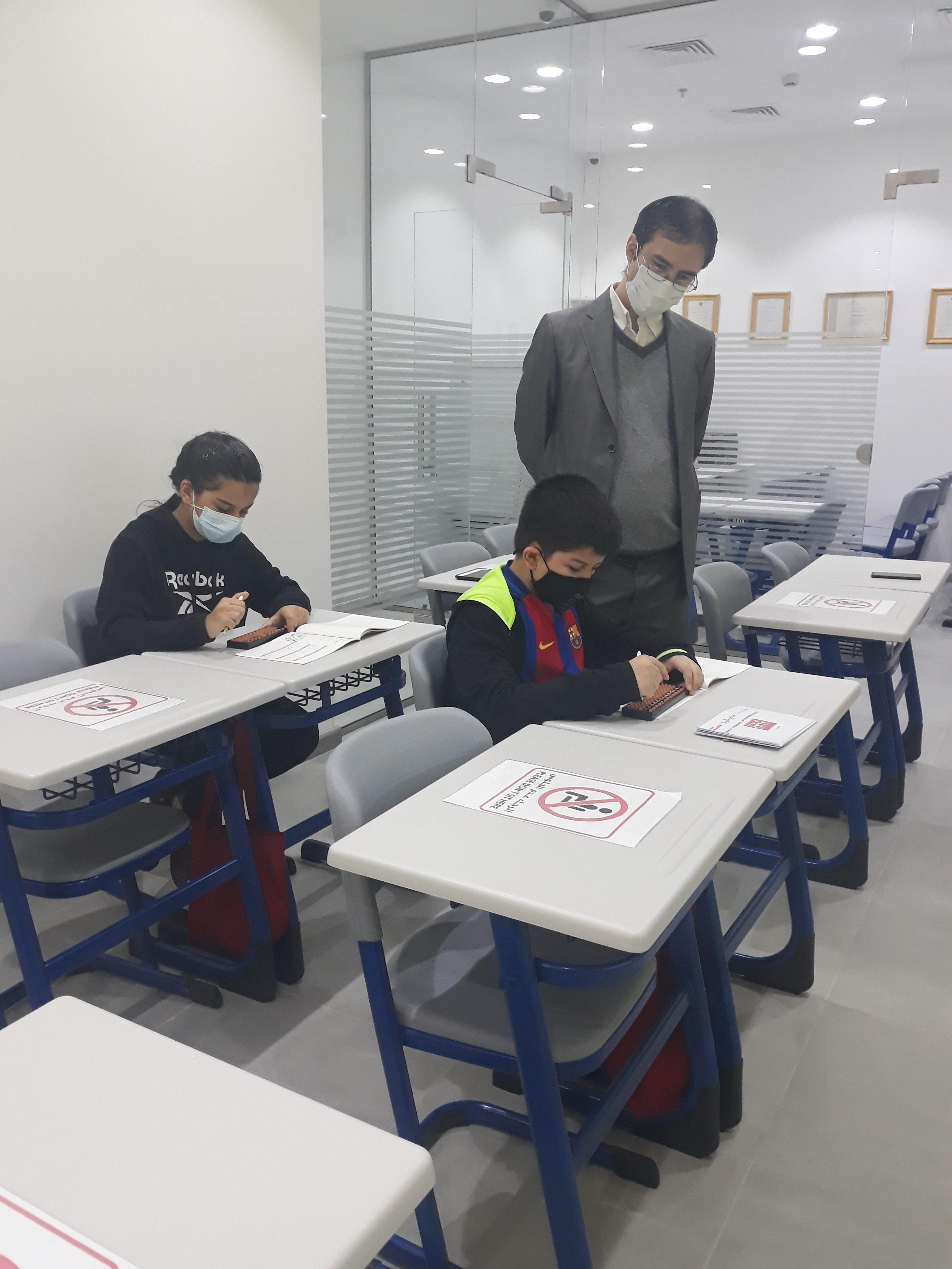 Our students are studying very diligently!